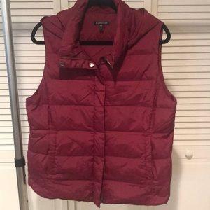 Eileen Fisher Maroon Puffer Vest